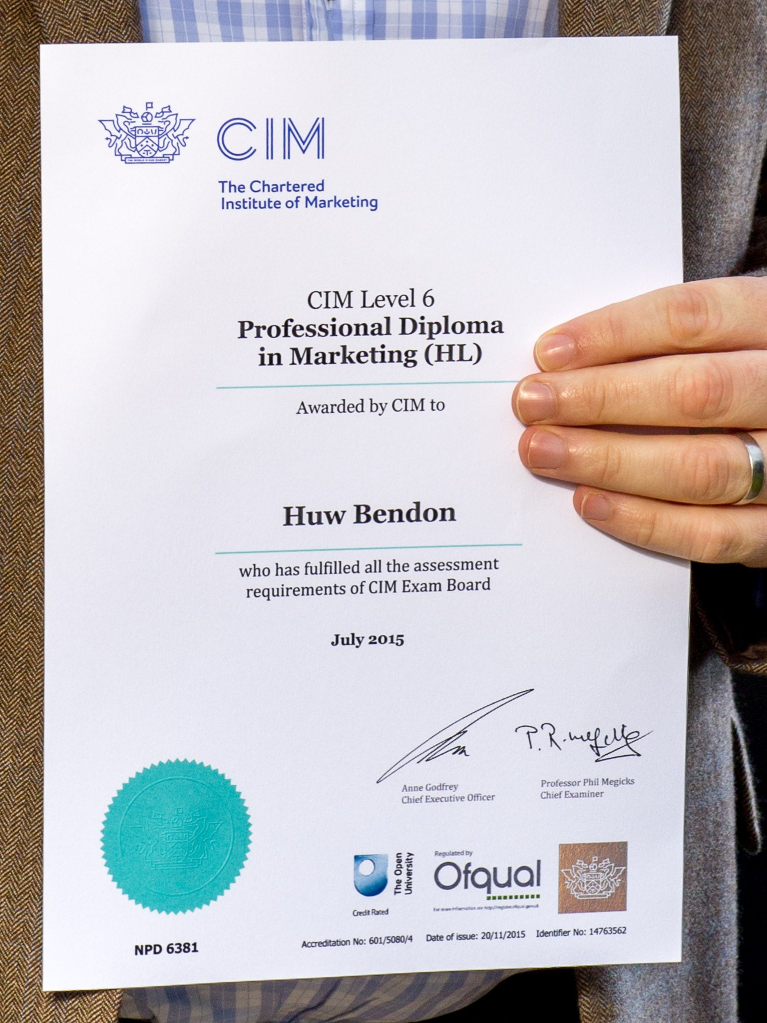 4 By 3 Cim Certificate On Point Copywriting