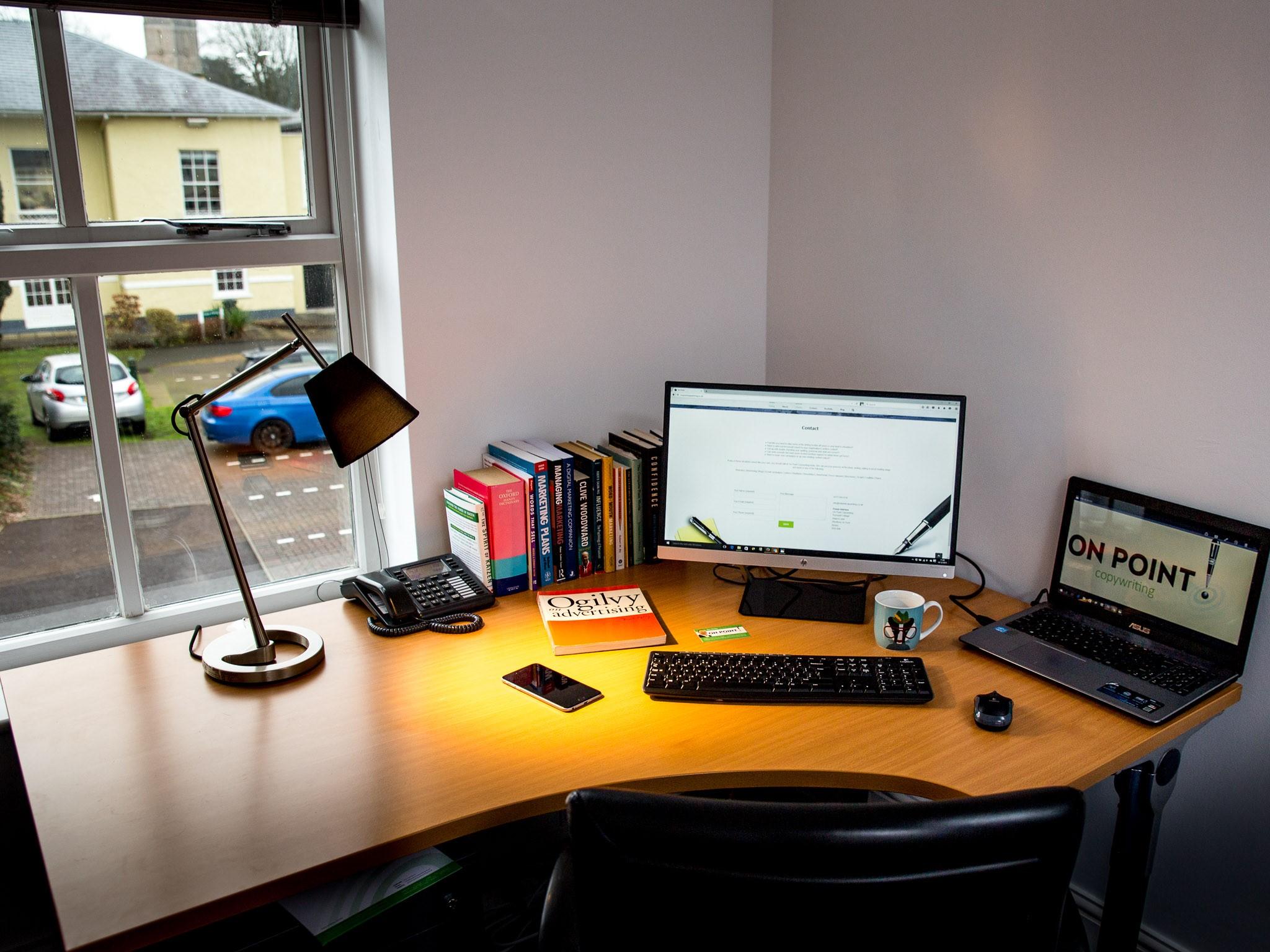 Copywriter's desk